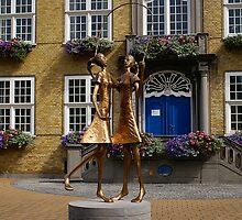 Oostduinkerke - Rope dancing Girls - Belgium by Gilberte