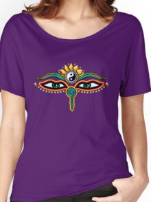 Buddha eyes, symbol wisdom & enlightenment, Women's Relaxed Fit T-Shirt