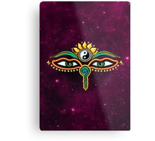 Buddha eyes, symbol wisdom & enlightenment, Metal Print