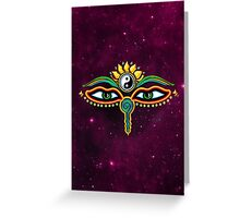 Buddha eyes, symbol wisdom & enlightenment, Greeting Card