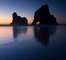 Sunset at Wharariki Beach by Paul Mercer