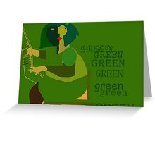 Green pianist Greeting Card