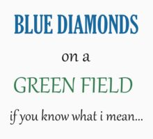 Blue Diamonds on a Green Field- Wicked by kelsieizme
