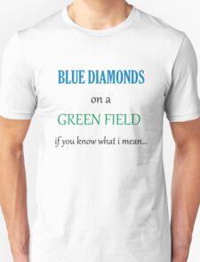 Blue Diamonds on a Green Field- Wicked Unisex T-Shirt