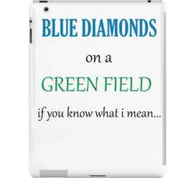 Blue Diamonds on a Green Field- Wicked iPad Case/Skin