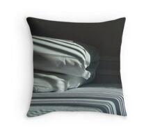 The Hospital Bed Sheets.  Throw Pillow