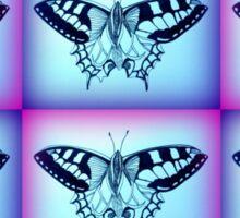 purple and blue 5 Sticker