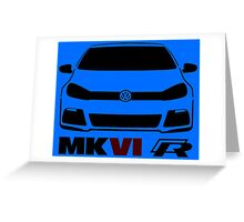 VW MK6 Golf R Front View Greeting Card