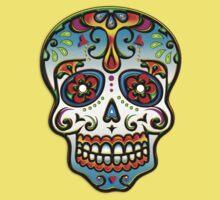 Mexican Sugar Skull, Day of the Dead, Dias de los muertos Baby Tee