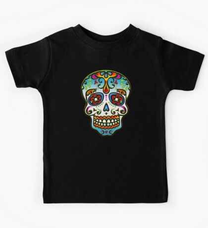 Mexican Sugar Skull, Day of the Dead, Dias de los muertos Kids Tee
