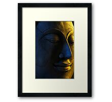 Photograph of a Wooden Buddha Carving Framed Print