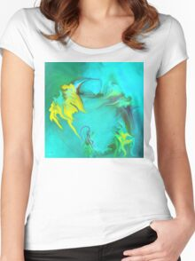 Searching for Peace abstract ART+Product Design Women's Fitted Scoop T-Shirt