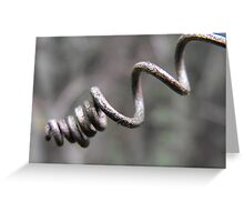 Grape Vine Tendril Greeting Card