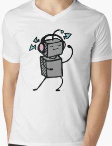 Robot Boogie Mens V-Neck T-Shirt