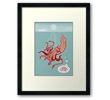 Bored Squid Framed Print