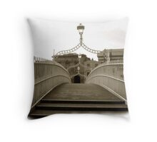 The Ha'penny Bridge..in the rare oul times! Throw Pillow
