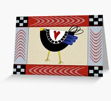 Country Crowing Greeting Card