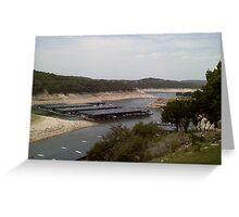 Lake Travis in Extreme Drought Greeting Card