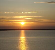 Sunset over Chesil Beach by NowhereMan