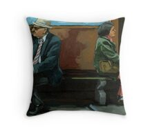 White Socks - portrait Throw Pillow