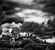 Ominous Corfe Castle by Ben Marshall