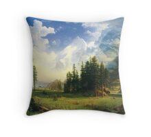 Mountain Lanscape Throw Pillow