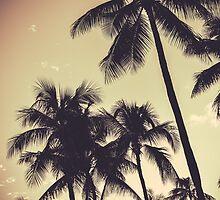 Retro Sepia Palm Trees by mrdoomits