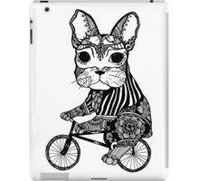 Funny Big Mouse Rat on a Bicycle  iPad Case/Skin
