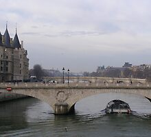 Seine with Conciergerie by Robert Arconti