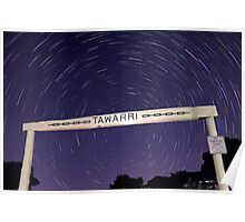 Star Trails At Tawarri  Poster
