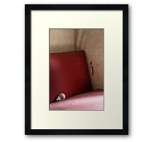 20.5.2015: Light Bulb on Old Sofa Framed Print