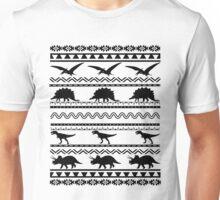 Fancy Dinosaur Aztec  Unisex T-Shirt