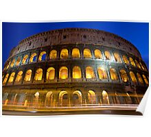 Colloseum by Night Poster