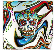 Mexican Sugar Skull, Day of the Dead, Dias de los muertos Poster
