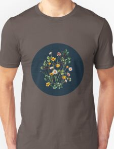 MeadowSweet Autumn on Rustic Blue Unisex T-Shirt