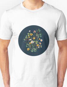 MeadowSweet Autumn on Rustic Blue T-Shirt