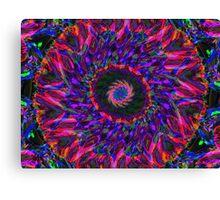 Fluorescent Tie-Dye Canvas Print