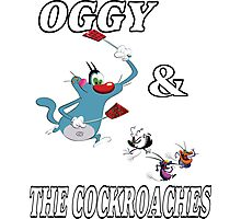 OGGY and The Cockroaches Photographic Print