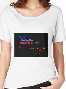 Blue Swallow Motel Neon Sign, Tucumcari, New Mexico Women's Relaxed Fit T-Shirt