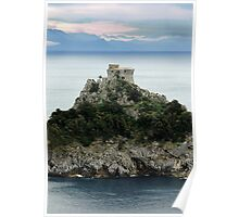 """ SIGNAL TOWER ""  THE ITALIAN COAST AT AMALFI, ITALY Poster"