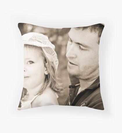 Daddy's little girl x Throw Pillow