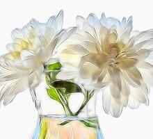White Mums by Susie Peek