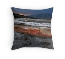 Mammoth Springs Throw Pillow