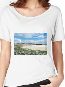 The beaches of St Ives, Cornwall, England.  Women's Relaxed Fit T-Shirt