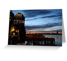 Halifax Harbour Evening Greeting Card