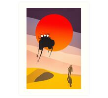 Mad Max silhouette Art Print