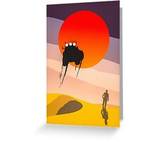 Mad Max silhouette Greeting Card