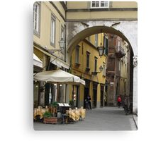 Lucca Arch Canvas Print