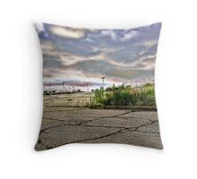 Ruins of the Mall Throw Pillow