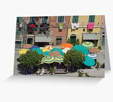 Vernazza Umbrellas Greeting Card